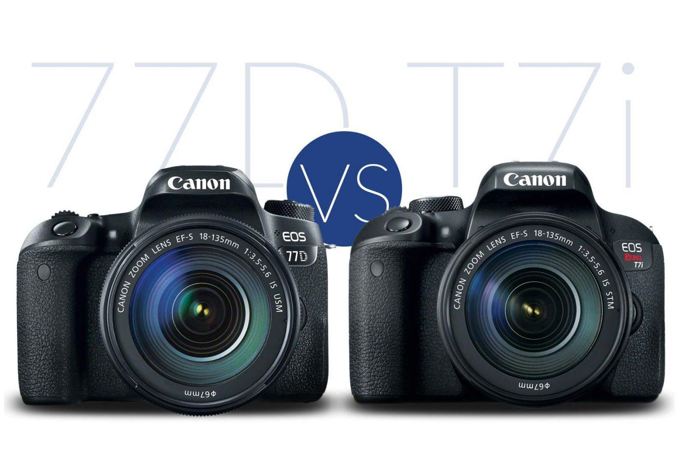 Canon T7i vs 77D Banner