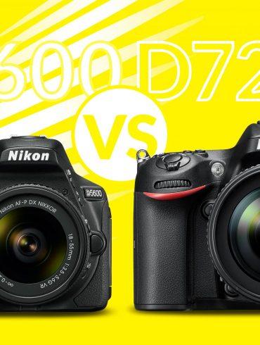 Nikon D5600 vs D7200 Banner