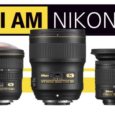 Three Nikon Lenses Banner