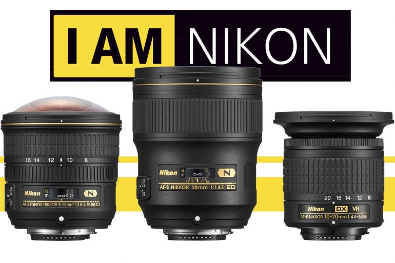 Three Nikon Lenses Banner