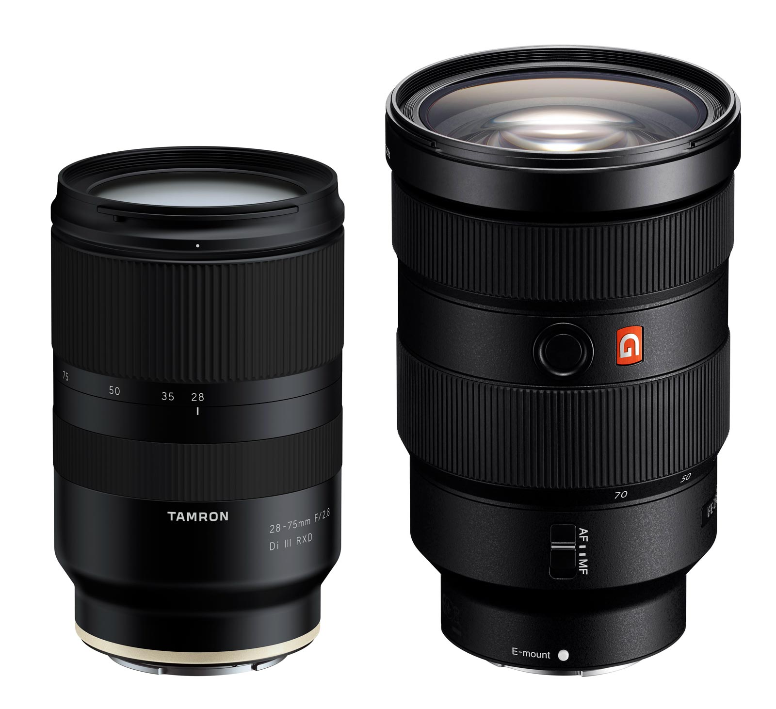 New Tamron 28 75 F Lens Their First For Sony Fe Mount Light 400mm F28 Gm Oss A Rough Size Comparison The Rendering Compared To Photograph Of 24 70 With Sizes Based On Standard