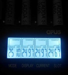 LADDA battery charge levels