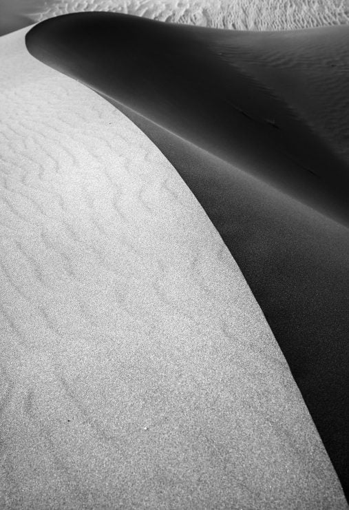 Black and white image at Great Sand Dunes National Park