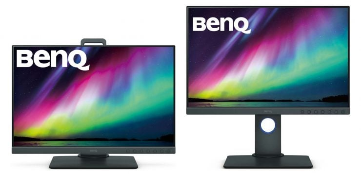 BenQ Monitors raised and lowered on stand