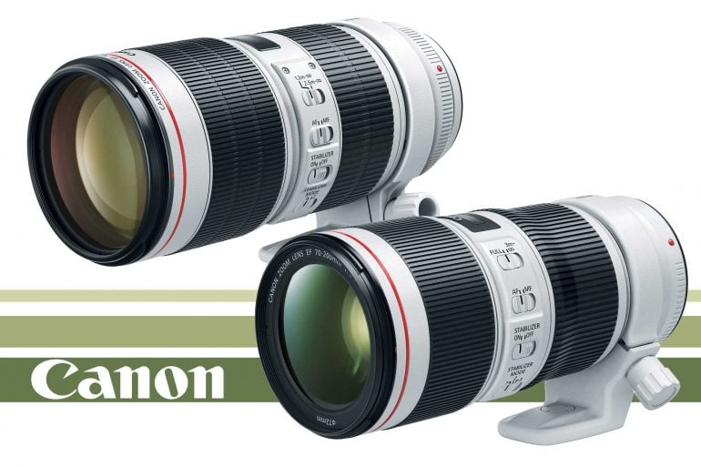 Canon EF 70-200 f/2.8L IS III and f/4L IS II Banner