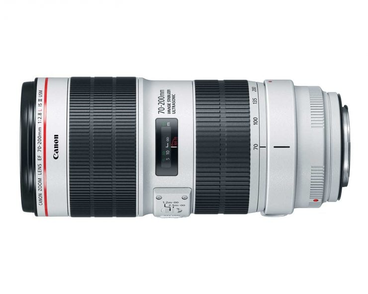 Top view of the Canon 70-200 f/2.8L IS III