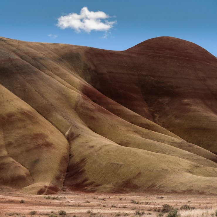 Cloud and blue sky over painted hills, oregon