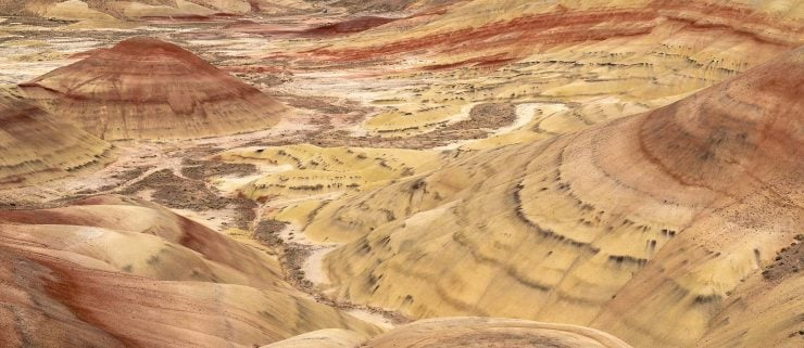 Hills and Valleys at the Painted Hills, Oregon