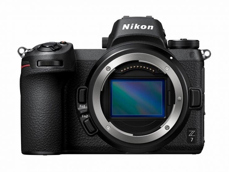 Nikon Z7 and Z-mount showing