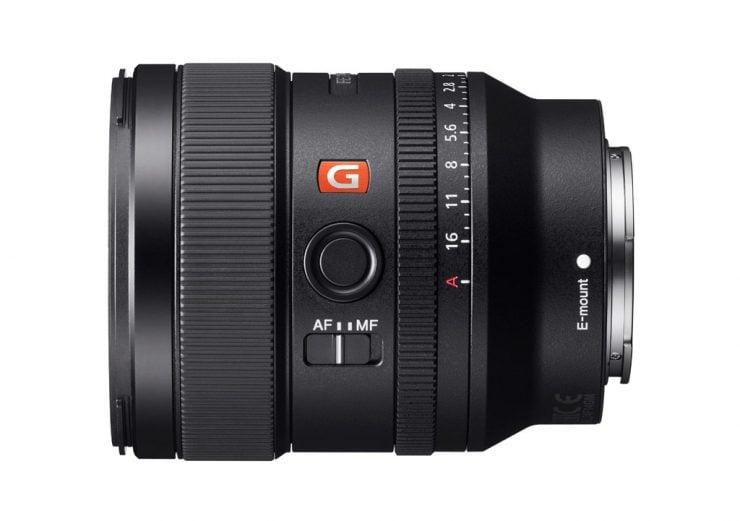 Sony 24mm f1.4 GM lens left