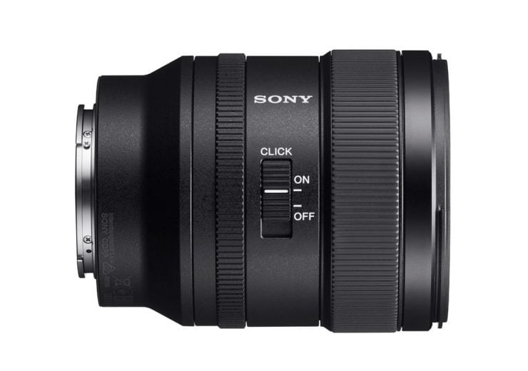 Sony 24mm f1.4 GM lens right side