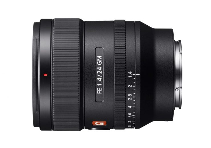 Sony 24mm f1.4 GM lens top side