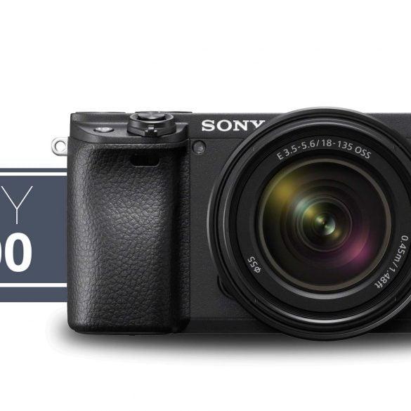Sony a6400 camera and sony alpha logo