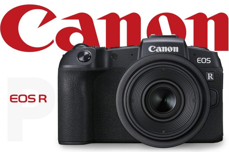 Canon EOS RP banner with red canon logo