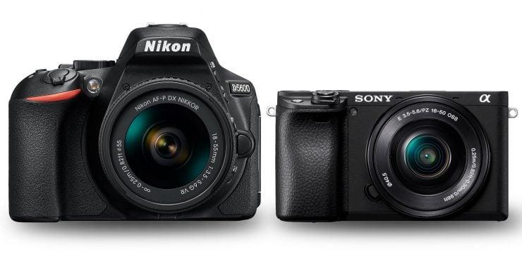 Nikon D5600 and Sony a6400