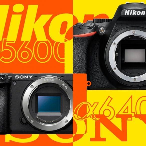 Sony a6400 vs Nikon D5600 Banner