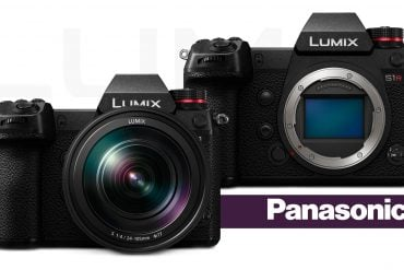 Panasonic Lumix S1 and S1R with logos