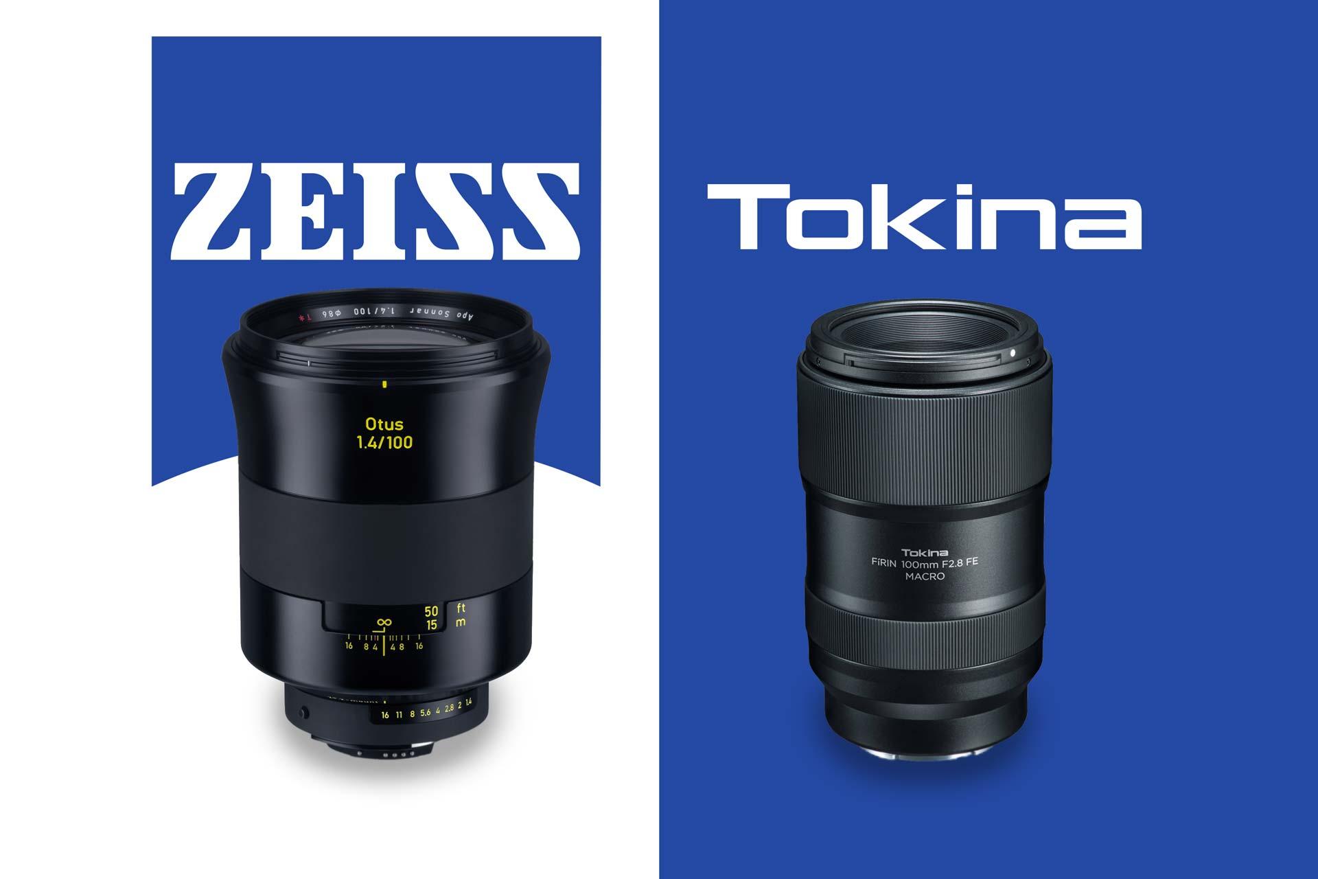 New Zeiss Otus 100mm f/1 4 for Canon and Nikon, Tokina AF 100mm f