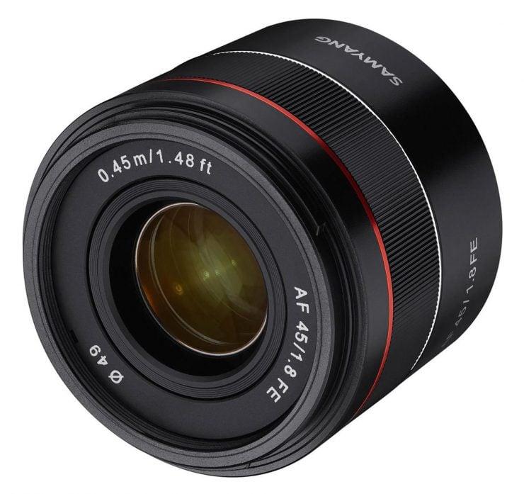 samyang rokinon 45mm f1.8 AF for Sony E-mount