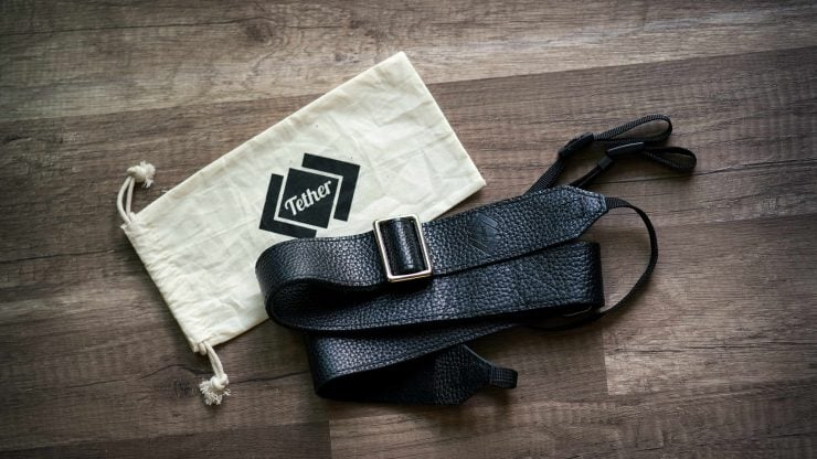 Black Tether Overlap Camera Strap