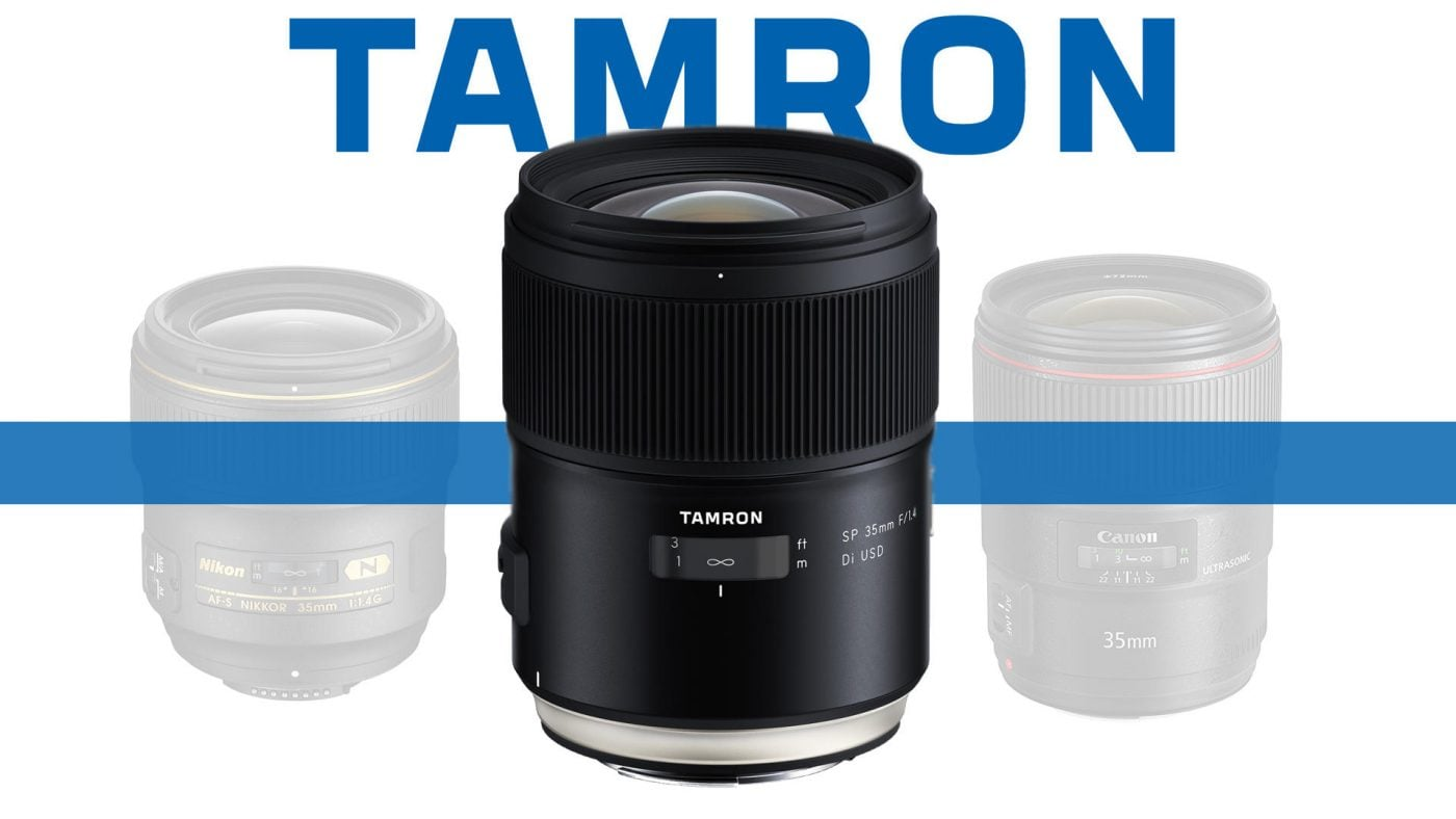 Tamron SP 35mm f/1.4 Di USD Lens Banner