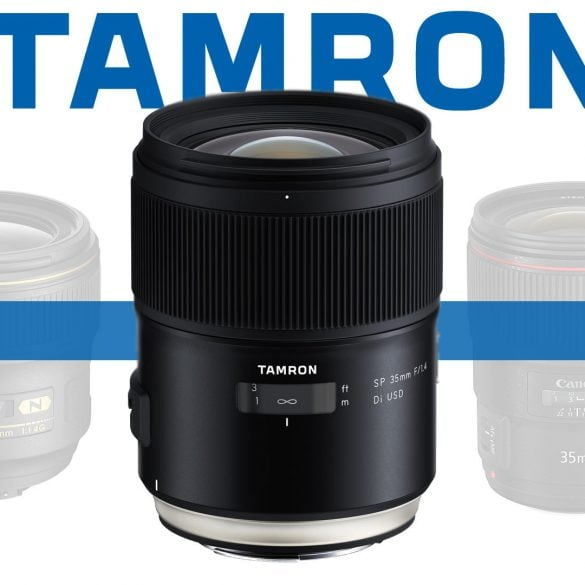 Tamron SP 35mm f/1.4 Di USD Lens Banner