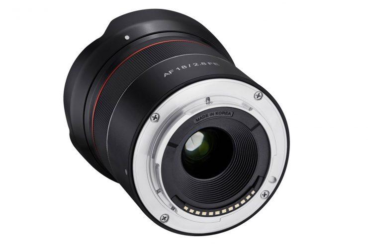 Samyang 18mm f/2.8 AF lens mount