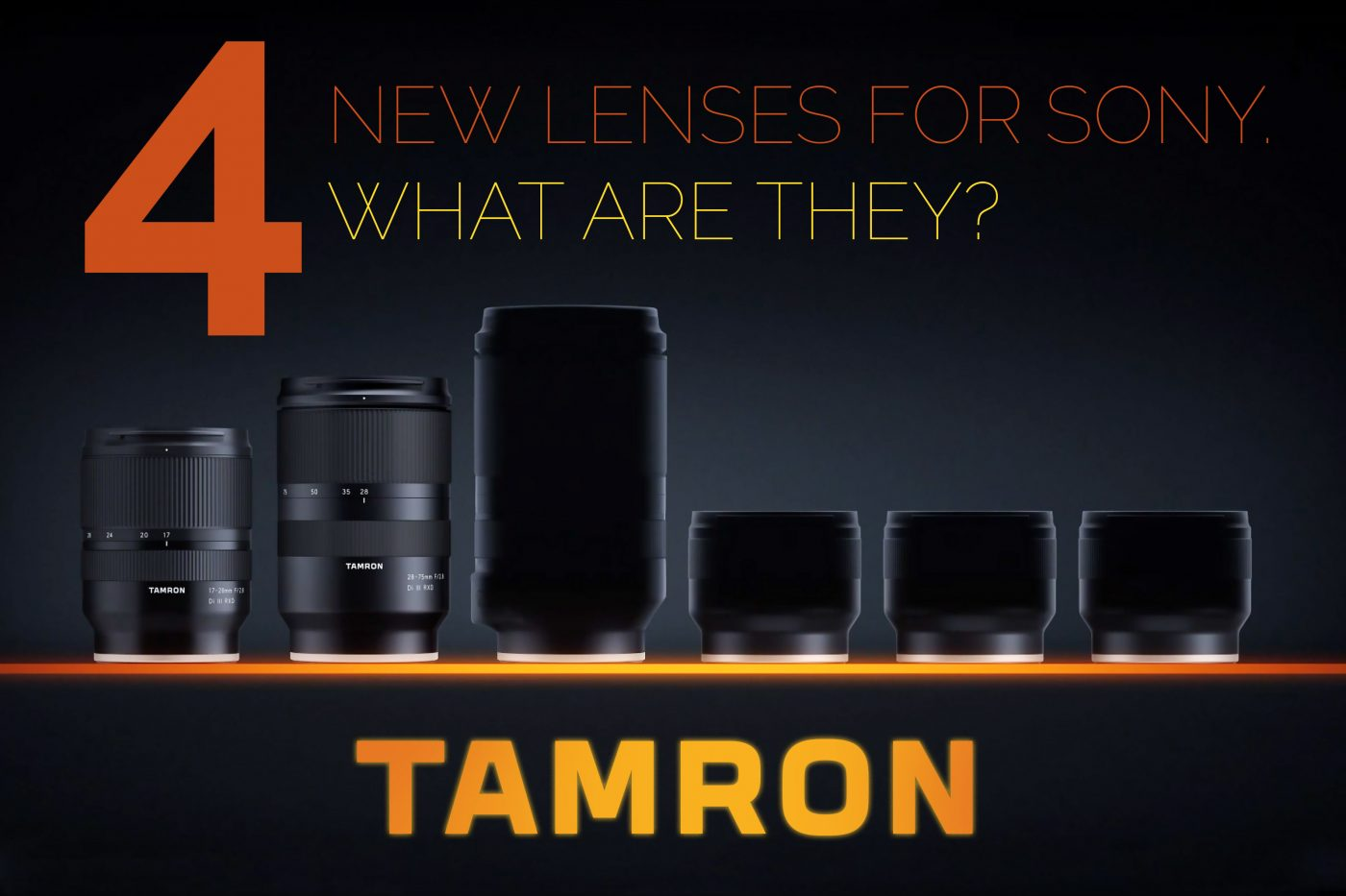 Teaser Images of Tamron Lenses
