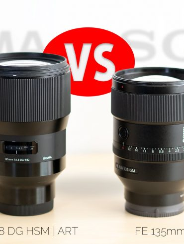 Lede Image of Sigma and Sony 135mm f/1.8 lenses side by side