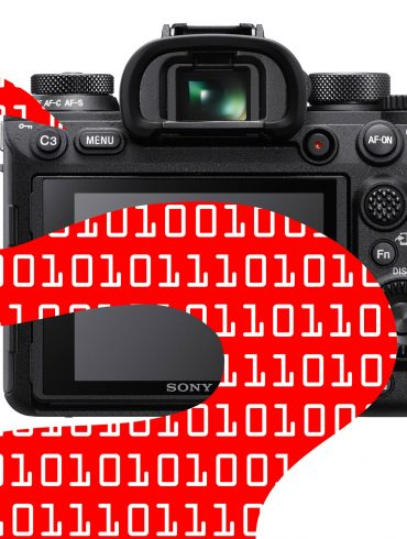 Graphic of Sony Camera with Data Stream