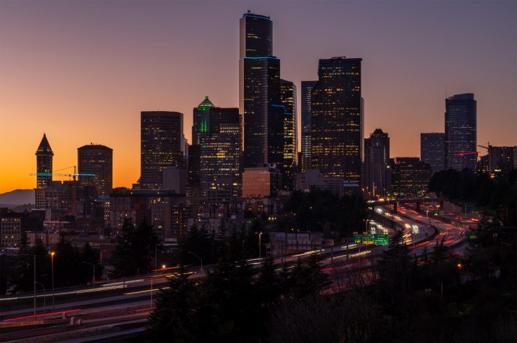 Seattle Skyline from South Seattle, shot with Moment VND filter