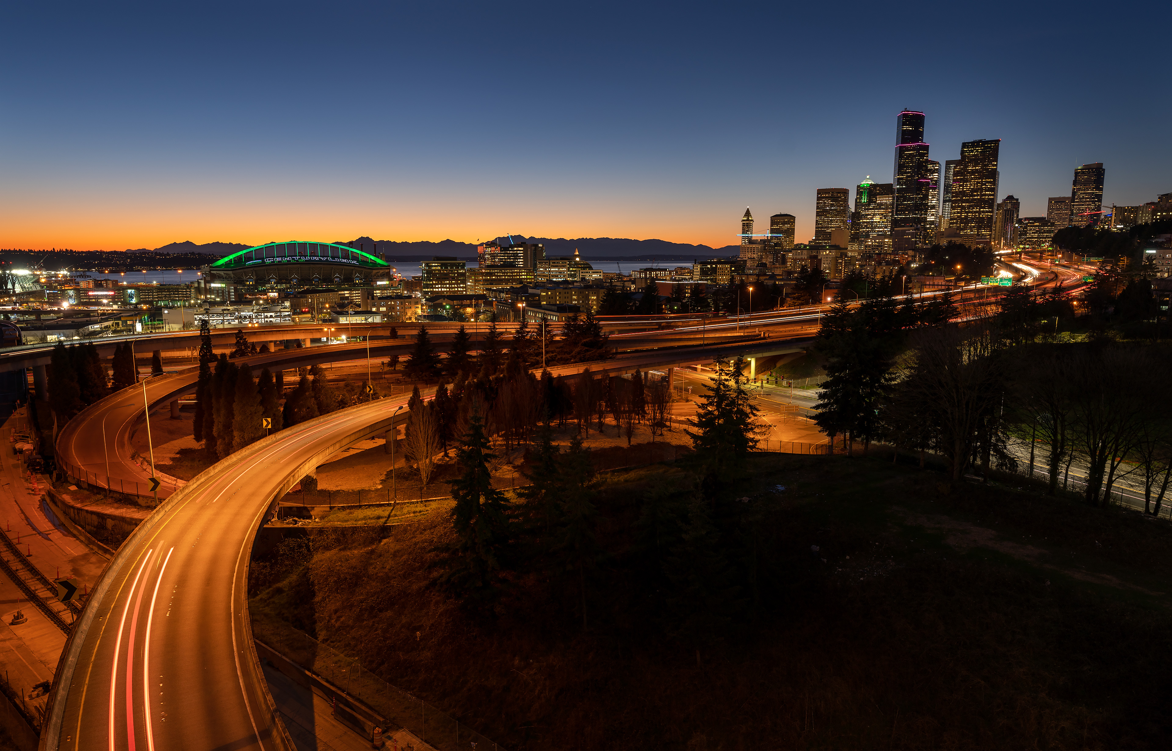 Seattle Skyline shot with Moment VDN Filter