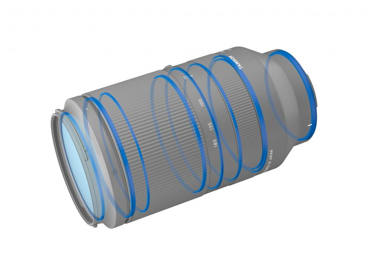 Tamron 70-180mm lens weather sealing locations
