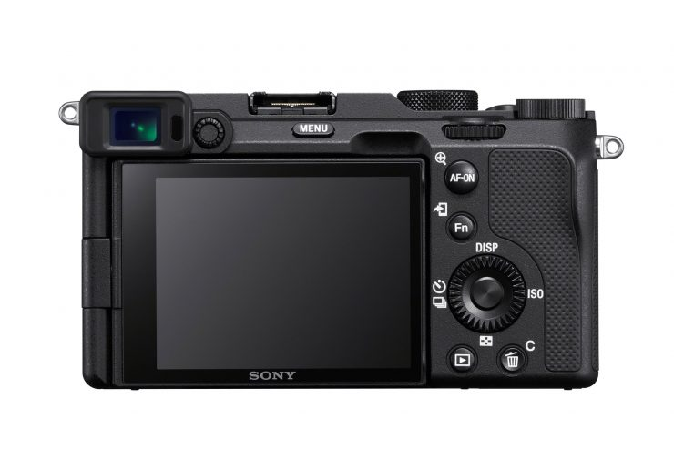 Sony A7C back view