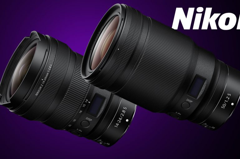 Nikon Z 50mm f/1.2 and 14-24 f/2.8 Lens Announcement Product Photos