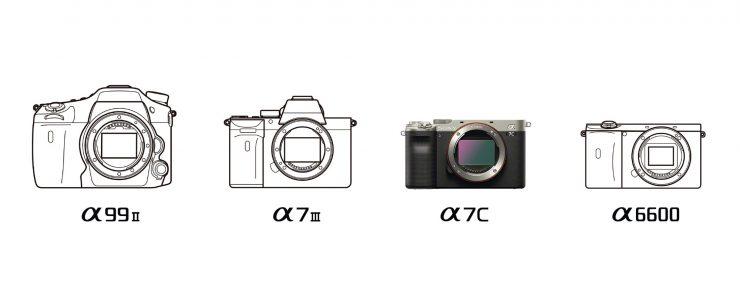 Sony camera body line art comparison