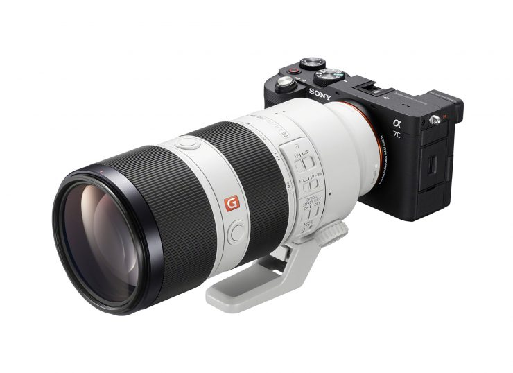 Sony A7C attached to 70-200mm GM lens
