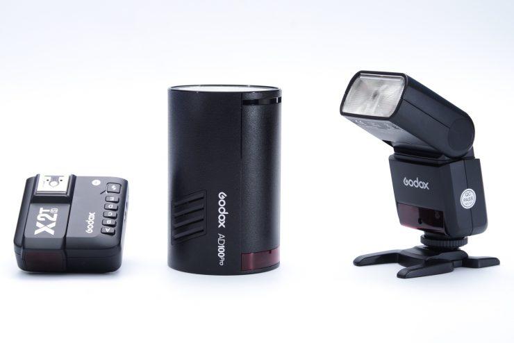 X2T trigger, Godox AD100Pro and Godox TT350